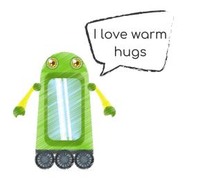I love warm hugs